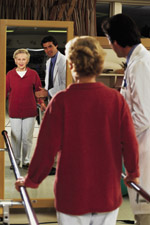 Mature woman in physical therapy